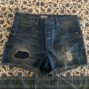 Mossimo distressed denim high rise shorts